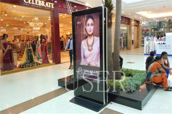 LULU Mall in india, 65inch dual sides floor standing totem, 100 units