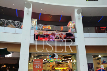 Romania shopping mall 65inch lcd video wall, 1x8