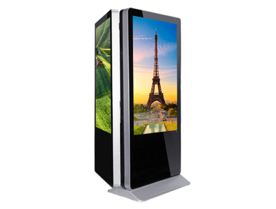 55'' Floor standing double sided LCD digital signage